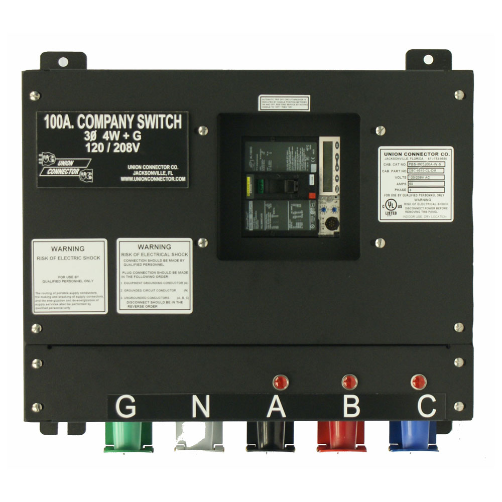 Basic Company Switch Union Connector Outdoor 200 Amp Service Panel Wiring Diagram With Series 16 Cam Lok Receptacle 100