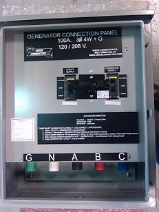 generator switch panel or manual transfer switch