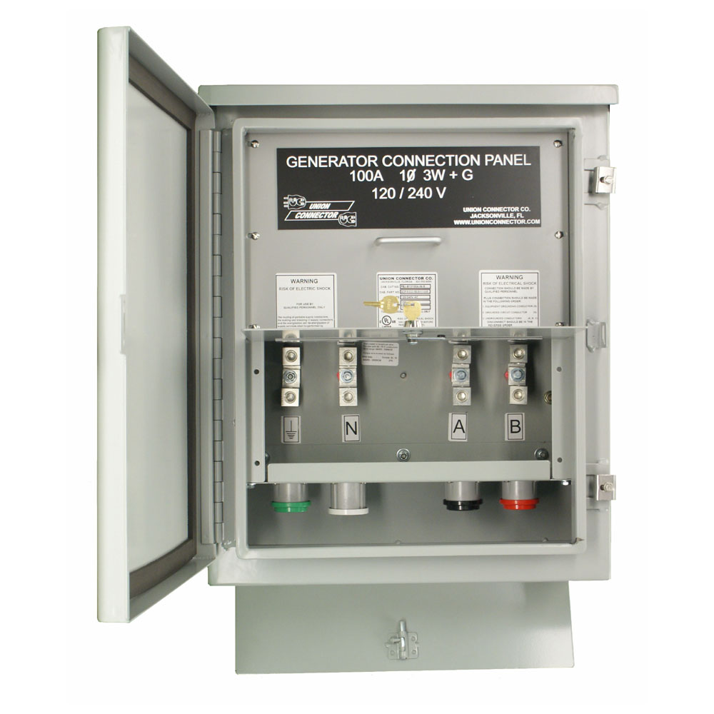 Network Wiring Panel Box All Kind Of Diagrams Home Structured Generator Connection W Mechanical Lugs 100 Amp Union Connector Electrical